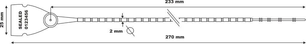[cml_media_alt id='6451']scite seal LGH 103-2x270 - Gambo a palline e chiusura in metallo.[/cml_media_alt]