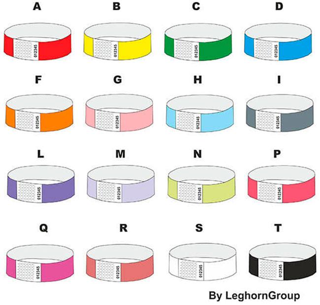 armbander aus tyvek farben personalisierungen