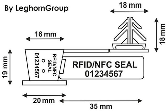 drahplomben rfid anchorflag technische zeichnung