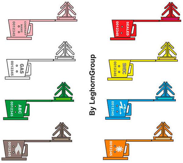 drahtplombe anchorclick farben personalisierungen
