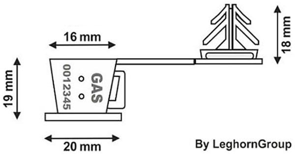 drahtplombe anchorclick technische zeichnung