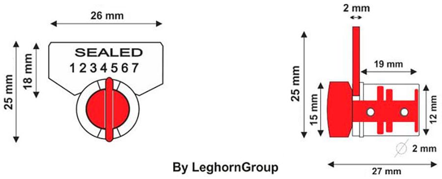 drahtplombe twist seal technische zeichnung