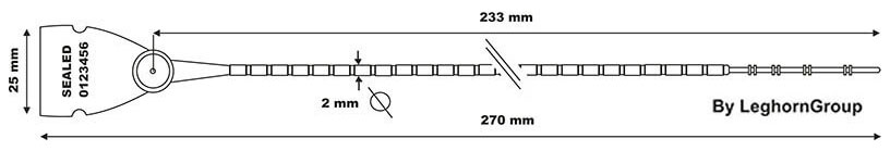 durchziehplombe aus kunststoff scite seal lgh technische zeichnung