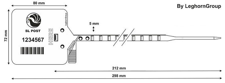 durchziehplombe heraklis 5×298 mm technische zeichnung