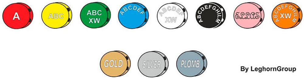 farbige quetschplomben plombex farben personalisierungen