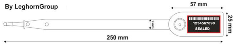 fixlangeplombe aello seal technische zeichnung