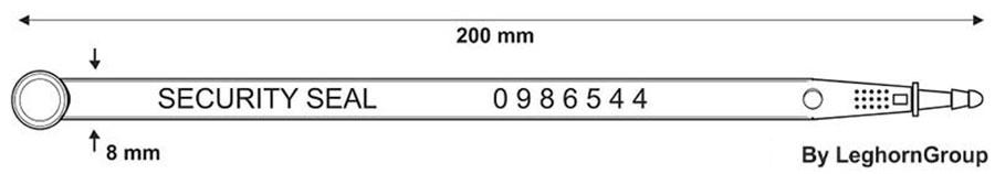 fixlangeplomben car seal ww003 technische zeichnung