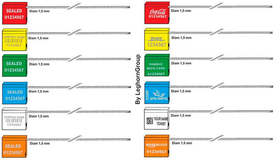 kabelplomben 1.5×180 mm farben personalisierungen