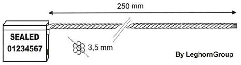 kabelplomben 3.5×250 mm technische zeichnung