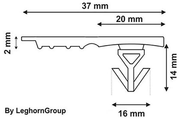 kunststoffplomben totebox seal 37×16 mm technische zeichnung