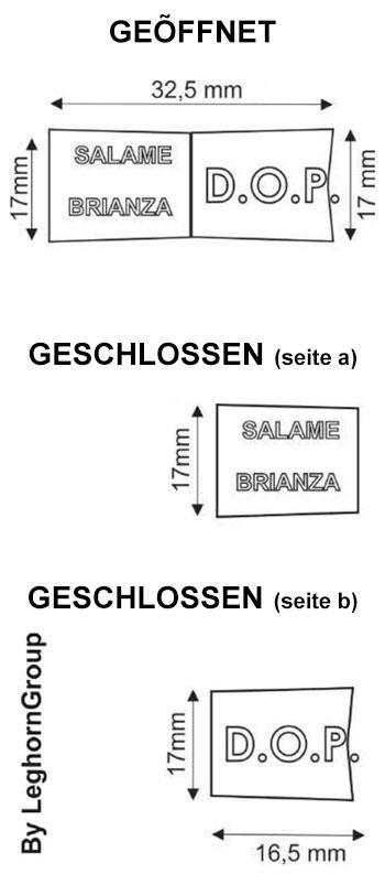 metallclip plombe salcrimp technische zeichnung
