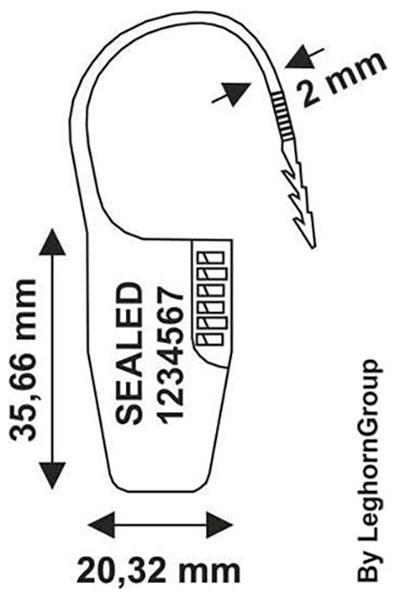 padlock plombe ocypite seal technische zeichnung