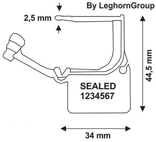 padlock plomben calaide seal technische zeichnung