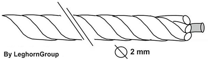 schnur mit metallkern technische zeichnung
