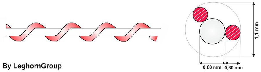 spiraldraht aus nylon kupfer technische zeichnung