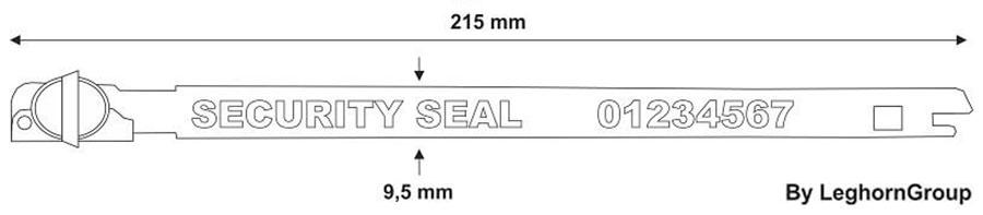 steckplomben balloon seal technische zeichnung