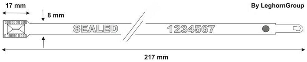 steckplomben metal seal technische zeichnung