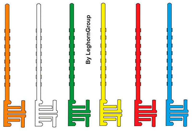 wiederverwendbarer postal block farben