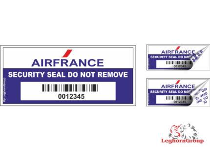 antimanipulations etiketten fluglinien flughafen