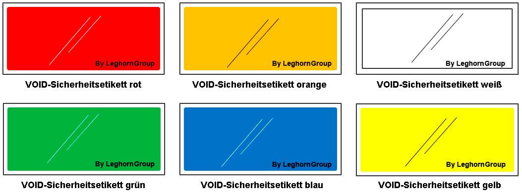antimanipulationsetiketten fluglinien flughafen farben