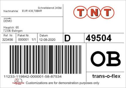 etiketten fur logistik