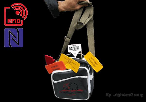 Schultertasche ''KEFALONIA'' Mit Kompletter Bemusterung Von RFID Plomben